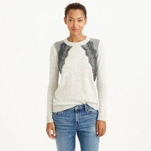 J. Crew Colorblock Lace Panel Sweater :241